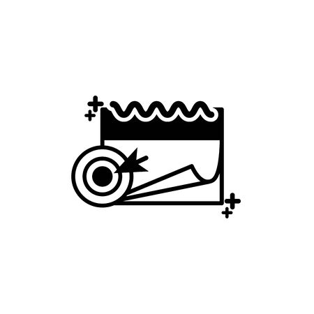 Isolated calendar icon line design Illustration