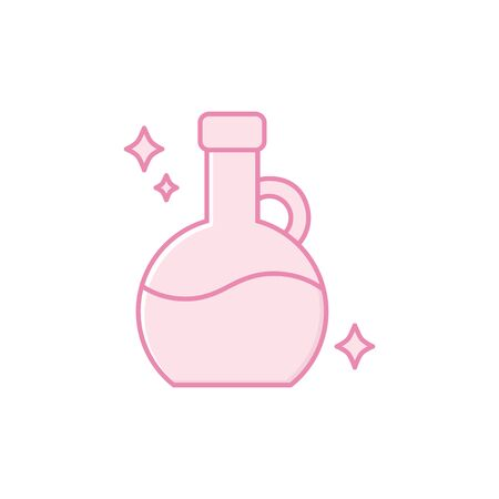 Isolated flask icon fill design Çizim