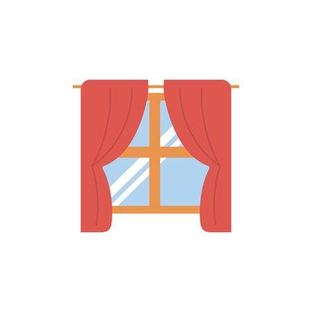 Isolated window icon flat design
