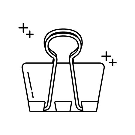 binder clip office line icon style