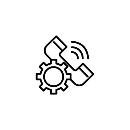 Social media phone icon line design