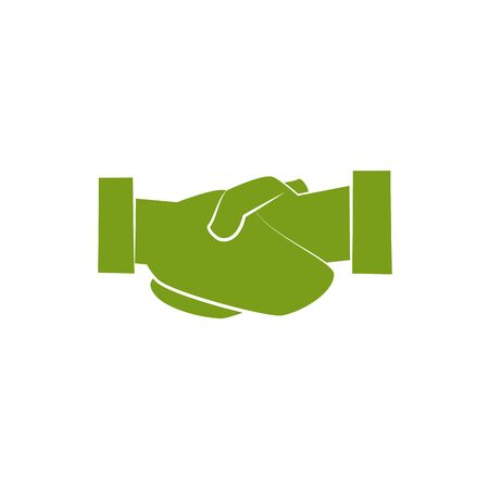 Isolated hand shake icon silhouette design