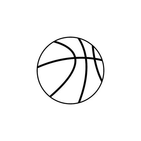 Isolated ball of basketball line design Illustration