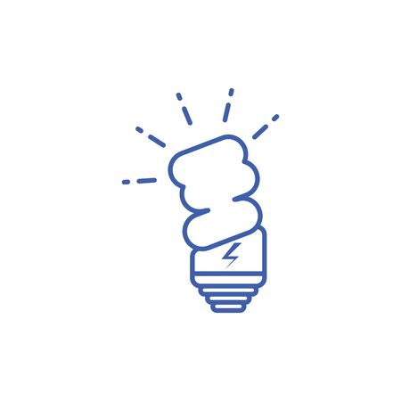 light bulb icon design, Energy renewable power supply and sustainable theme Vector illustration 일러스트