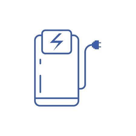 Isolated station and plug icon line design