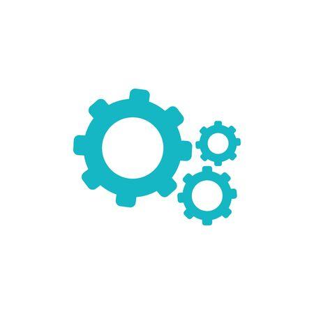 security gears flat style icon vector illustration design 일러스트