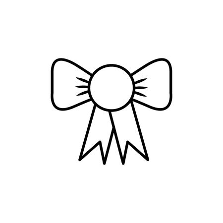 commerce shopping bow line image icon
