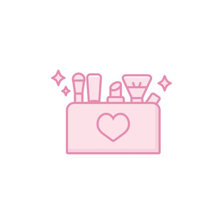utensils icon design, Make up beauty cosmetic fashion style glamour skin and facial care theme Vector illustration