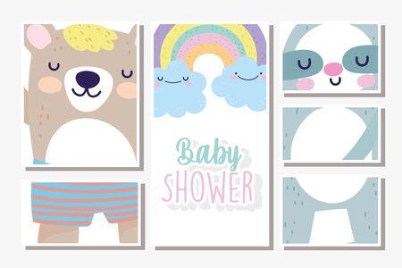 baby shower cards decoration Stock Illustratie