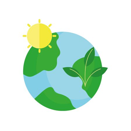 ecology renewable environment world leaves sun icon