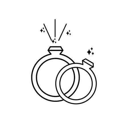 rings imagination mystery magic line style icon illustration Illustration