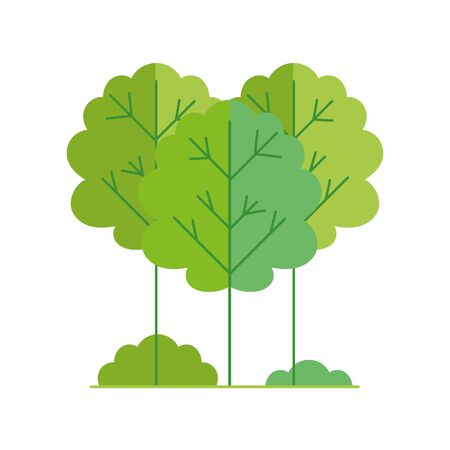 ecology renewable environment forest nature icon vector illustration