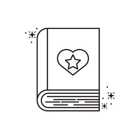 magical book fantasy line design vector illustration