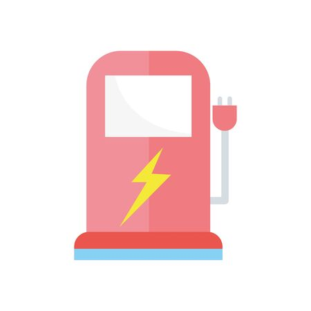 ecology renewable environment station pump electric icon vector illustration 일러스트