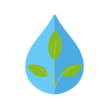 ecology renewable environment water plant icon vector illustration 일러스트