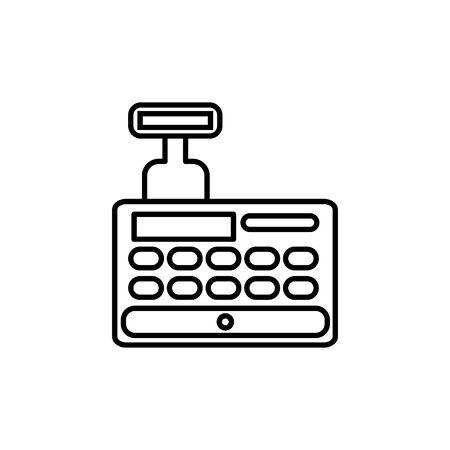 cash register commerce shopping line image icon