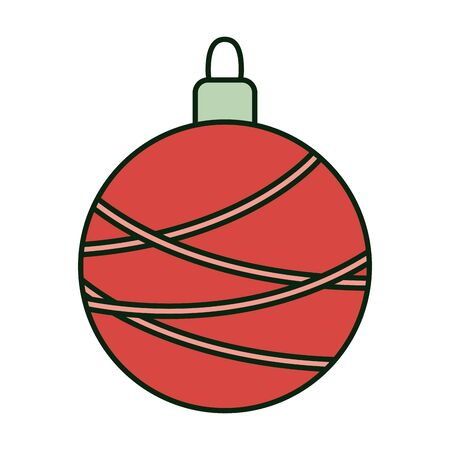decorated red ball lines celebration merry christmas