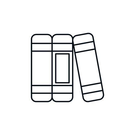 Isolated books icon line design Illustration