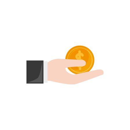 Isolated coin icon flat design Illusztráció