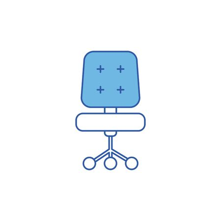 Isolated home chair icon fill design Stock fotó - 133978557