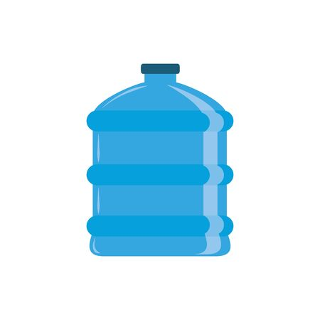 water dispenser bottle plastic flat icon blue Illusztráció