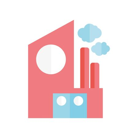 ecology renewable environment factory building chimney icon