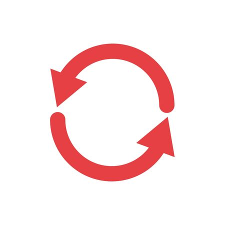 Isolated red arrow icon vector design