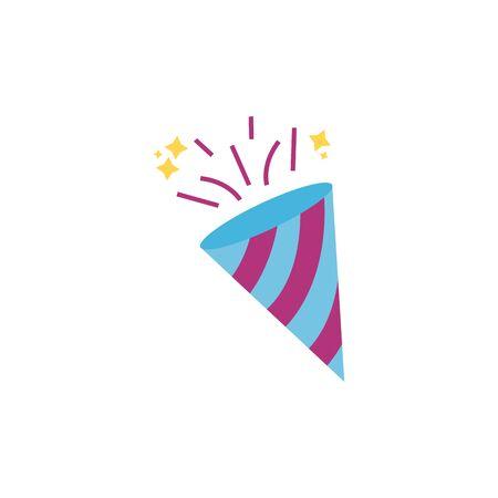 horn festive celebration party flat icon design
