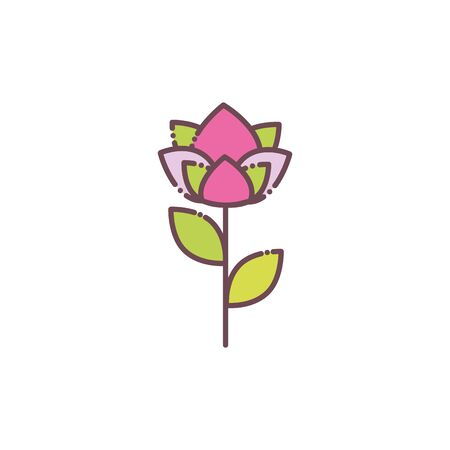 Isolated pink flower icon vector design