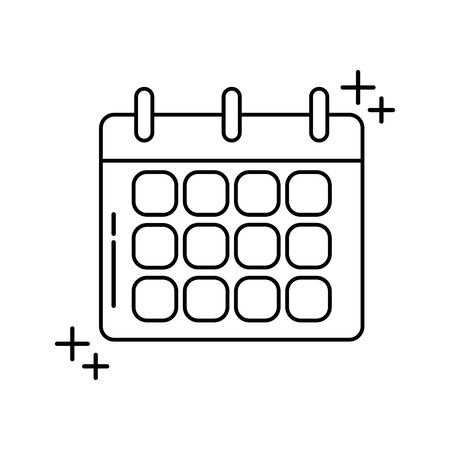 calendar reminder office line icon style