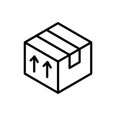 cardboard box delivery icon thick line Ilustracja