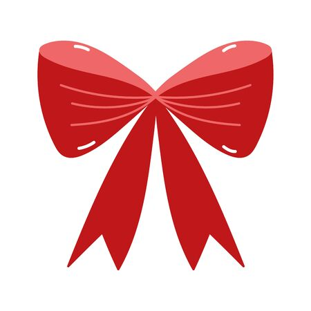 merry christmas red gift bow decoration icon