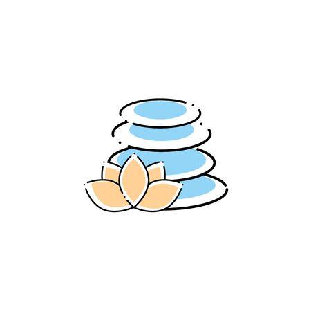stones spa fill style icon 일러스트