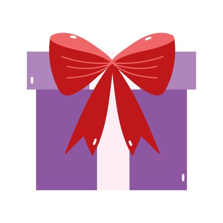 merry christmas purple gift bow decoration icon