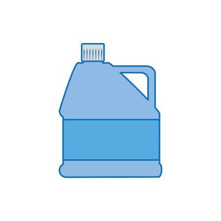 gallon bottle plastic fill icon blue