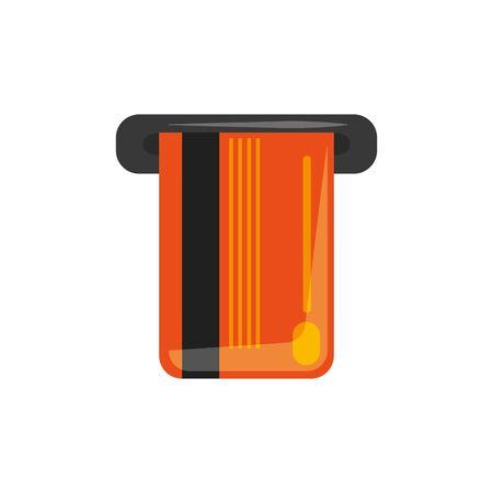 Isolated credit card icon flat design Illusztráció