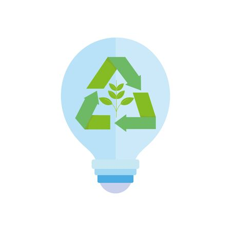 ecology renewable environment light bulb energy icon 일러스트