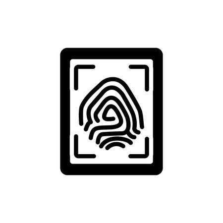 security fingerprint reader line style icon
