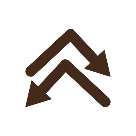Isolated arrows icon vector design