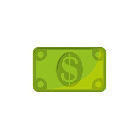 Isolated money icon flat design