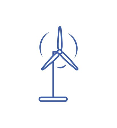Isolated wind mill icon line design