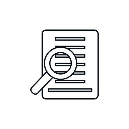Isolated document icon line design 일러스트