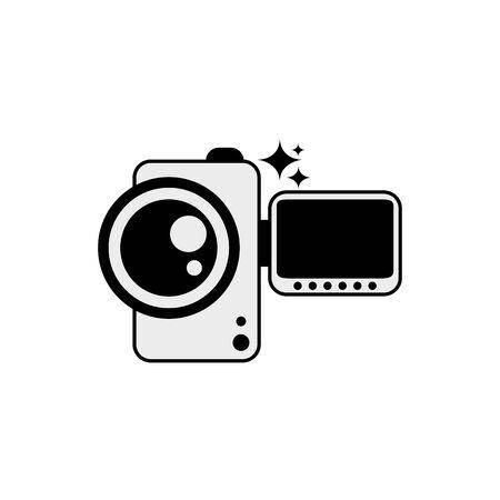 Isolated videocamera icon line design Ilustracja
