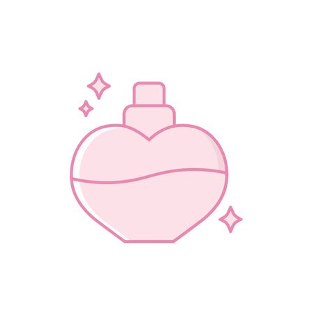 Isolated perfume bottle icon fill design