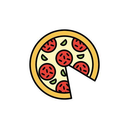 Isolated pizza icon fill design Ilustracja