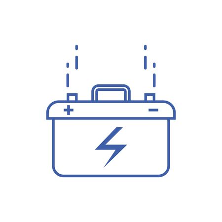 Isolated battery icon line design