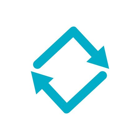 Isolated blue arrow icon vector design Ilustracja