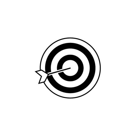 Isolated target icon line design