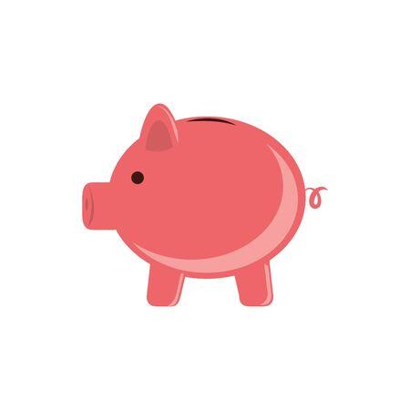 Isolated piggy icon flat design Illusztráció