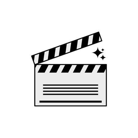 Isolated cinema clapboard icon line design Ilustracja